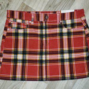 AE Red/Black Plaid/Tartan Skirt/Kilt